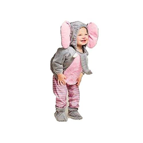 Baby Elephant Infant Costume (Baby Plush Elephant Vest Costume, 0-6 months)