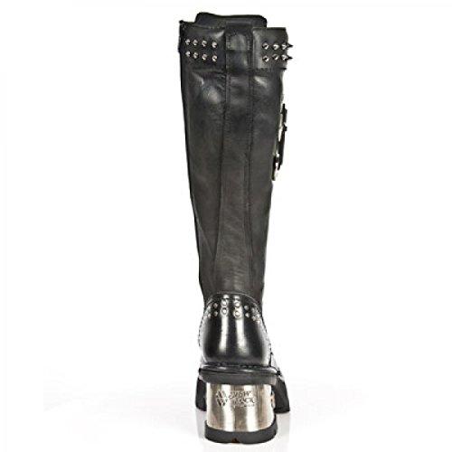 De Nouvelles Bottes De Rock M.1031-c1 Gothique Damen Punk Hardrock Stiefel Schwarz