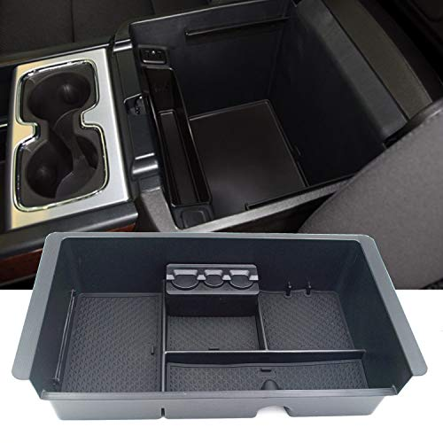 JOJOMARK 2014-2018 GMC Sierra Accessories Yukon/Chevy Tahoe Silverado Suburban Center Console Organizer Tray, Armrest Secondary Storage Box Compatible with GM Vehicles Accessories Replaces 22817343 ()