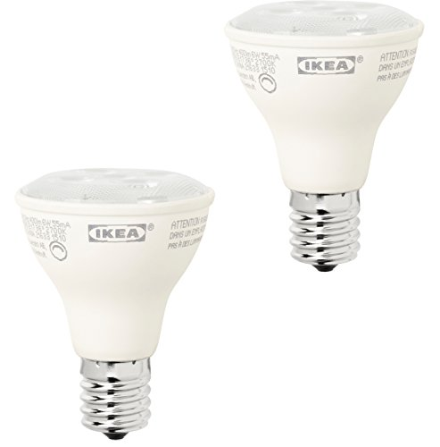 IKEA LEDARE LED E17 REFLECTOR R14 DIMMABLE ENERGY SAVING LIGHT BULB 400 LM - 6 Watts - 2700K Soft Warm White - Instant On - 25,000 Hour Rating - 2 Pack (Led Bulb E17 Reflector R14 400 Lm)
