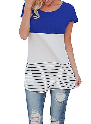 MIHOLL Womens Cotton T shirts Blouses