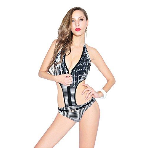 SW99071C1 Nylon Women's Bikini Swimsuit Size M