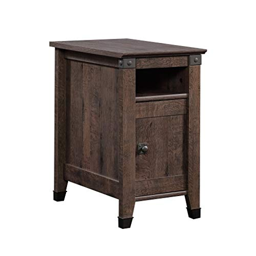 "Sauder 420422 Carson Forge Side Table, L: 14.17"" x W: 22.44"" x H: 24.61"", Coffee Oak finish"