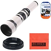Long-Range 650mm-1300mm f/8 Telephoto Zoom Lens for Canon Digital EOS Rebel T1i, T2i, T3, T3i, T4i, T5, T5i, T6, T6i, T6s, SL1, EOS60D, EOS70D, 50D, EOS 5D, EOS1D, EOS5D III, EOS6D, EOS7D SLR Cameras