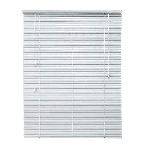Bali Cut-to-Width White 1 in. Room Darkening Aluminum Mini Blind – 65 in. W x 72 in. L (Actual Width 64.5 in. W x 72 in. L)