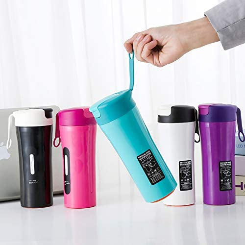 LDATOU Bicchiere da thermos in acciaio inossidabile da 500 ml Thermos Bicchiere Bollitore Notebook Bottiglie d'acqua My Drink Bottle Shaker Bottle Purple