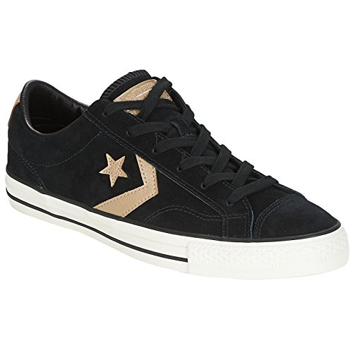 Converse Mens Star Player Ox Black Khaki Suede Trainers 8 US