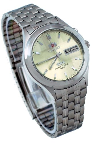 Orient #BEM5V002C Men's Facet Glass Stainless Steel Automatic Watch
