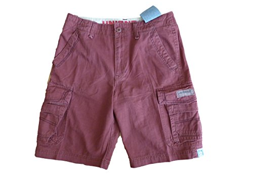 Unionbay Flat Front Shorts (Unionbay Young Mens Cargo Shorts (34, Rosewood))