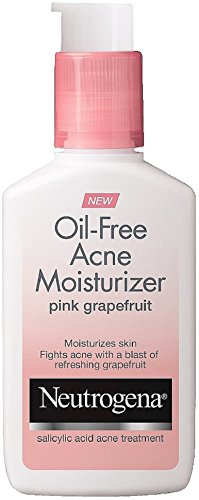 Neutrogena Oil-Free Acne Moisturizer, Pink Grapefruit 4 oz (3 Pack)