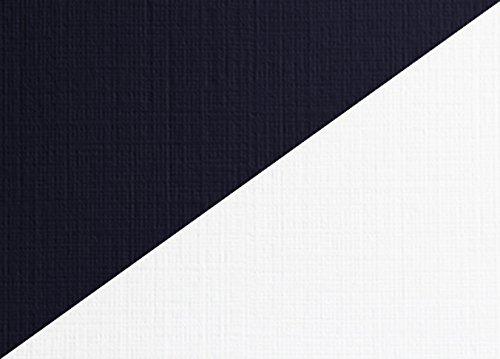 Carnival Linen Duplex Cover Stellar White/Deep Blue 77# Cover 8.5