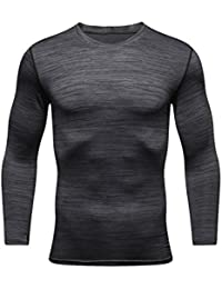 Men's Running Long Sleeve Compression T-Shirt Base Layer Top For Sport Gym Cycling