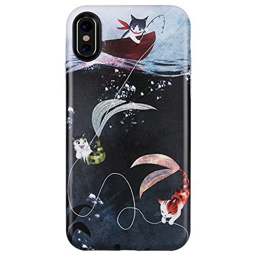 (GOLINK Case for iPhone X/iPhone Xs, Matte Finish Cute Series Slim-Fit Ultra-Thin Anti-Scratch Shock Proof Dust Proof Anti-Finger Print TPU Gel Case for iPhone X/Xs 5.8