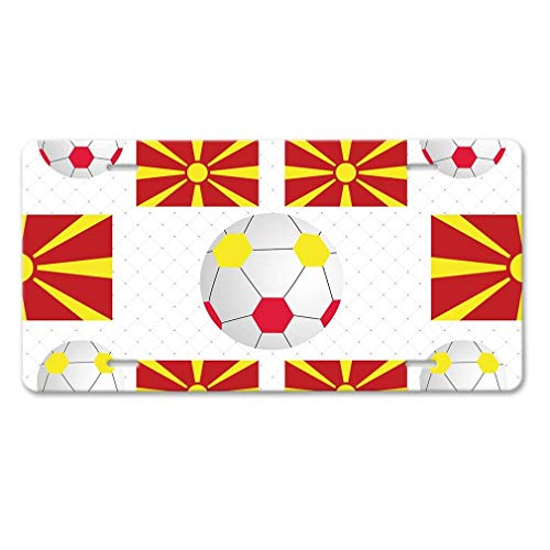 - Keliteu Macedonia Country Flag Soccer Car Aluminum License Plate
