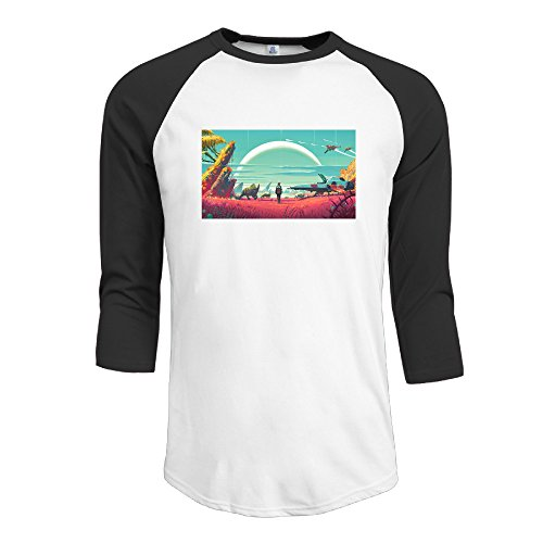 (No Manâ€TMs Sky Space Exploration Video Game Man Baseball Jerseys Raglan Sleeves)