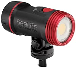 SeaLife SL6712 Sea Dragon 2500 UW Photo/Video Light Head includes Light Head, Battery & Charger