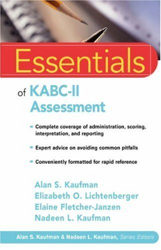 By Alan S. Kaufman - Essentials of KABC-II Assessment: 1st (first) Edition