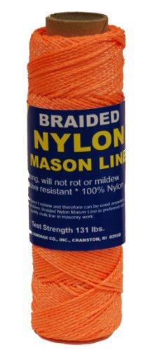 Orange 500-Feet T.W Evans Cordage 12-520 Number-1 Braided Nylon Mason