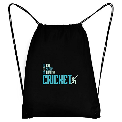 Teeburon To eat, to sleep, to breathe Cricket Sport Bag by Teeburon