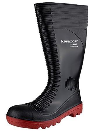 Dunlop Mens Acifort Ribbed Full Safety Black Various Size A252931