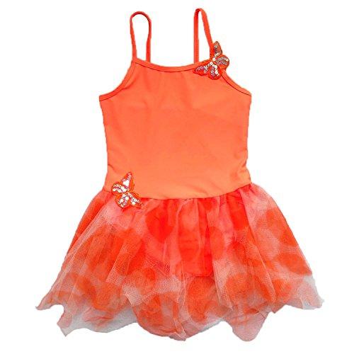 BAOHULU Girls Camisole Butterfly Tulle Ballet Leotard Tutu