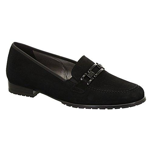 ara Women's Keeton 41241 Loafer,Black Suede,US 9 M (Suede Loafers Ara)