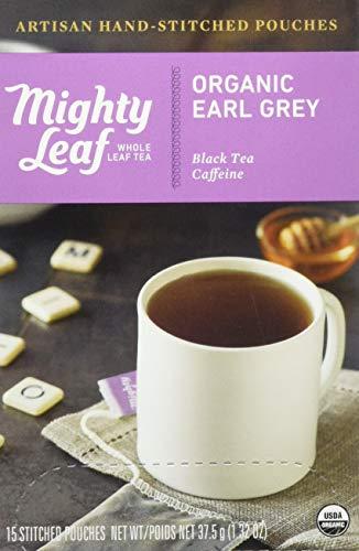 Mighty Leaf Tea Organic Earl Grey Hand-Stitched Tea Bags, 15 ct (Earl Grey Herbal Tea)