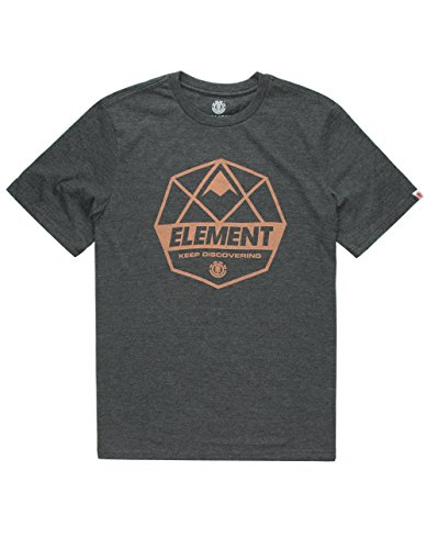 Element Mens Dome Short Sleeve Charcoal Heather Shirts Size Large