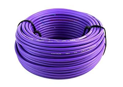 14 GA 50' Purple Audiopipe Car Audio Home Remote Primary Cable Wire LED