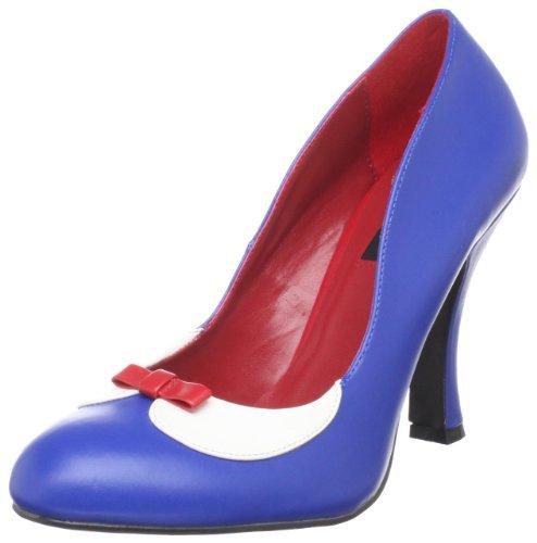 Pleaser White Women's Smitten-05/NBW Spectator Pump,Navy-Blue White Pleaser B004NNLS88 Parent ed1e6c
