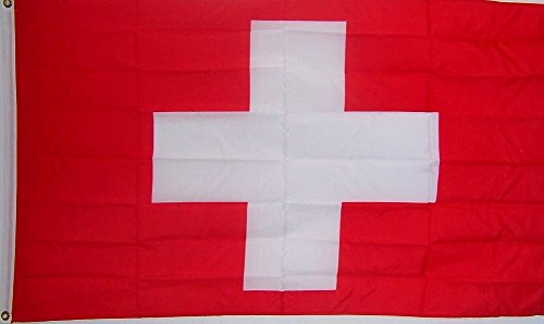 2x3 Switzerland Swiss Cross Country Rough Tex Knitted Flag 2'x3' Banner with Grommets