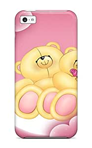 Slim Fit Tpu Protector Shock Absorbent Bumper Love Teddies Case For Iphone 5c