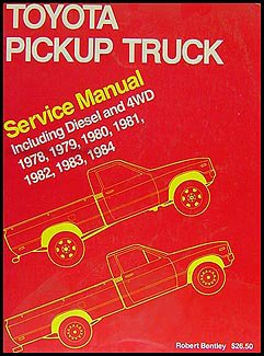 toyota pickup truck service manual including diesel and 4wd 1978 rh amazon com 1986 toyota pickup owners manual 1984 toyota pickup owners manual
