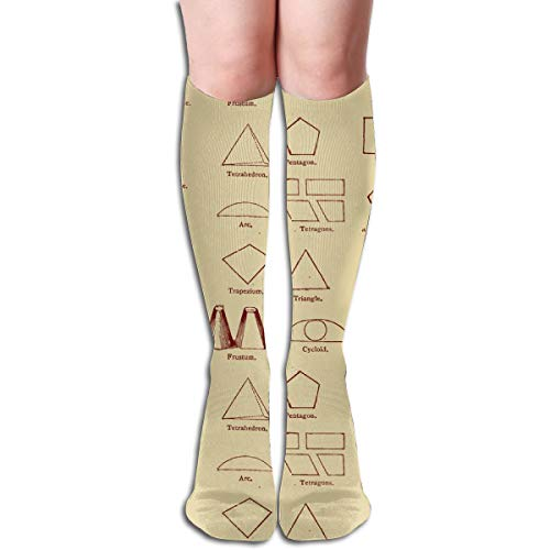 Geometry Lesson from The 1880's Compression Socks Adult Knee High Sock Gym Outdoor Socks 50cm 19.7inch