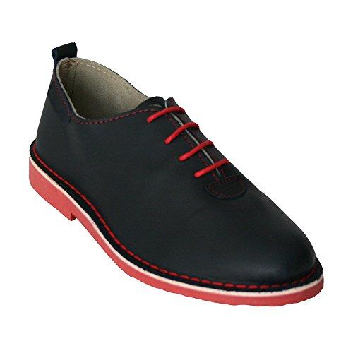 La Auténtica , Chaussures de ville à lacets pour homme bleu bleu marine