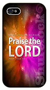 iPhone 5 / 5s Bible Verse - Praise the Lord - black plastic case / Verses, Inspirational and Motivational