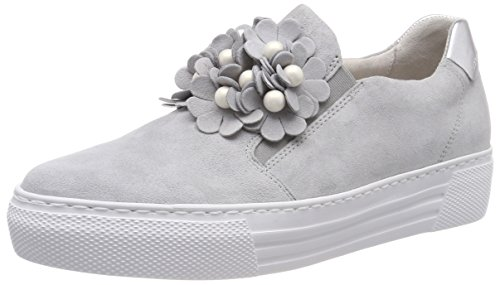Gabor Comfort Basic, Scarpe Stringate Derby Donna Grigio (Light Grey/Silber)