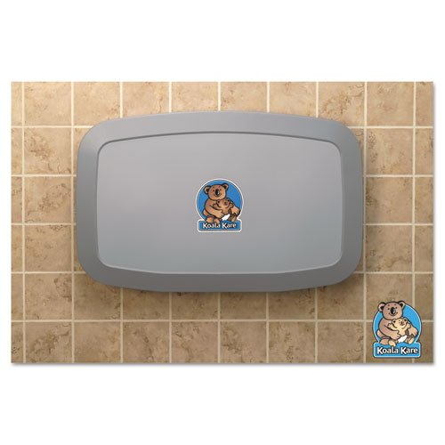 Horizontal Baby Changing Station, Gray, Sold as 1 Each