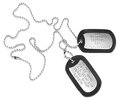 Original-DogTags:Militärischen Erkennungsmarken Dog Tags-Zwei personalisierten Erkennungsmarken.