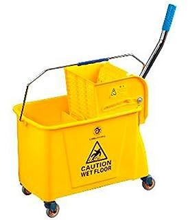 HOMCOM 20L Mop Bucket w// Wringer Como Mini Press caster wheels