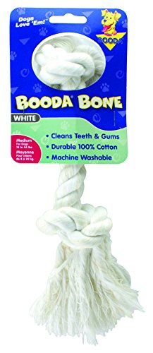 Aspen/Booda Corporation DBX50762 2-Knot Rope Bone Dog Chew Toy, Medium (Booda Dog Toy)