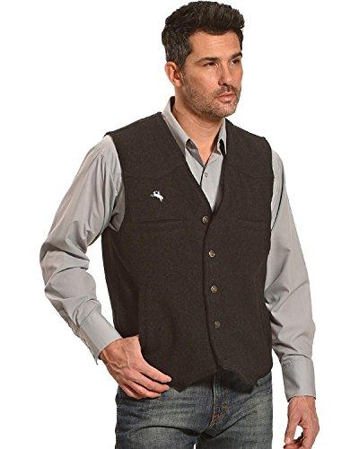 Wyoming Traders Men's Wool Vest Black ()
