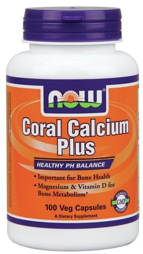 Now Foods Coral Plus magnesio de calcio & Vitamina D 100 Vcaps