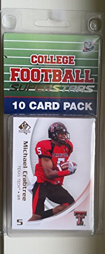 10 card pack college football texas tech red raiders different superstars starter kit