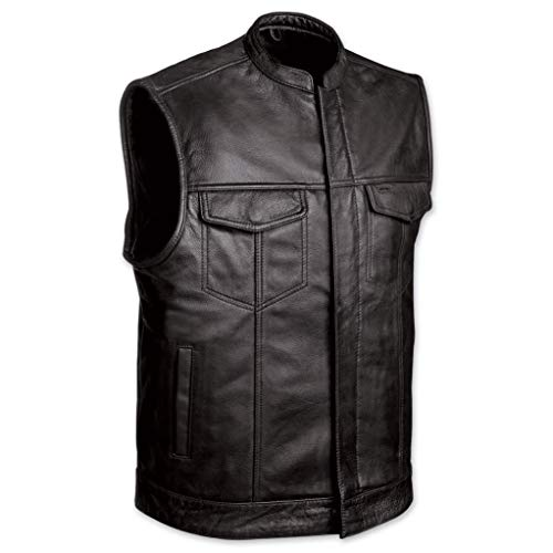 Cup Of Fashion Superhero Halloween Costume Vest - Men Cosplay Leather Merchandise (Large, SOA Vest)]()