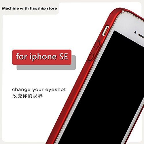 iPhone 5 Funda,iPhone 5S Funda,iPhone SE Funda,Case Cover [Silky]Alta Calidad Ultra Slim Anti-Rasguño y Resistente Huellas Dactilares Totalmente Protectora Caso de Plástico Duro (SJLC3-2) B