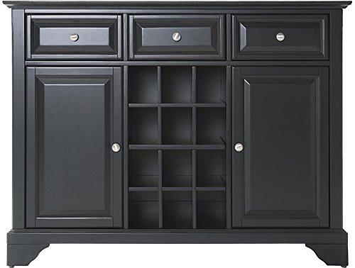 Crosley Furniture LaFayette Wine Buffet / Sideboard - Black (Bar Sideboard Buffet)