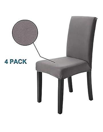 Housse De Chaise 4 Pieces Protection Elastique Moderne Salle A Manger