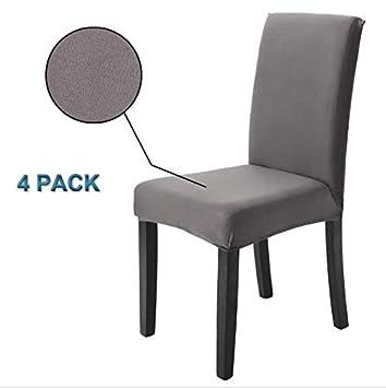 Housse De Chaise 4 Pieces Housse De Protection Elastique Moderne