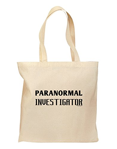 TooLoud Paranormal Investigator Grocery Tote Bag - Natural by TooLoud